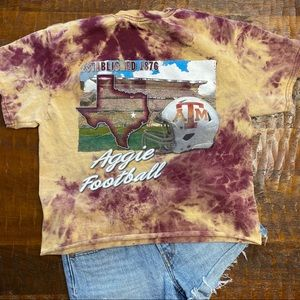 Tops - Texas A&M Aggies Custom Distressed Tee